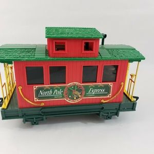 Other - Christmas Holiday Caboose Train Car Red Green Gold